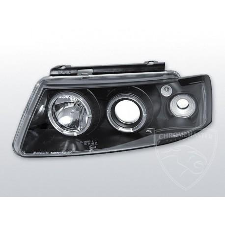 Lampy Przednie Angel Eyes Black Volkswagen Passat B5 Chromemaster Automotive