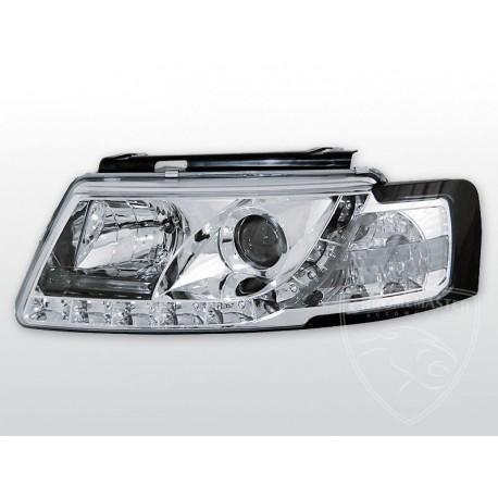 Lampy Przednie Daylight Chrome Volkswagen Passat B5 Chromemaster Automotive