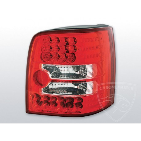 Lampy Tylne Red White Led Volkswagen Passat B5 Kombi Chromemaster Automotive