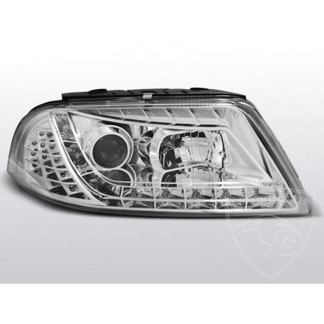 Lampy Przednie Daylight Chrome Volkswagen Passat B5 Fl Chromemaster Automotive