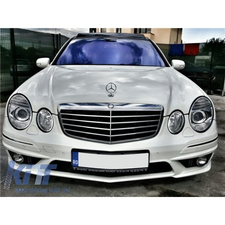Przedni Zderzak Mercedes W211 E Class Facelift 2006 2009 Chromemaster Automotive