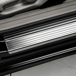 Nakładki progowe (stal + poliuretan) Renault Scenic II
