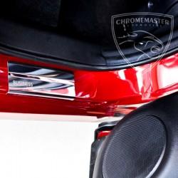Nakładki progowe Chrome + grawer Fiat Panda II