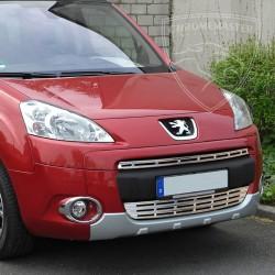 Listwy atrapy przedniej Peugeot Partner Tepee
