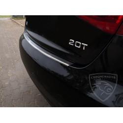 Nakładka z zagięciem na zderzak (stal szczotkowana) Audi A4 B8