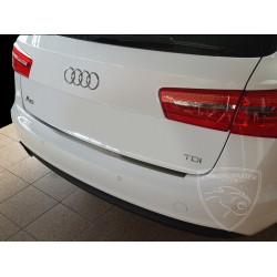 Nakładka z zagięciem na zderzak (stal szczotkowana) Audi A6 C7 AVANT