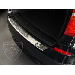 Nakładka z zagięciem na zderzak (stal szczotkowana) BMW X3 F25