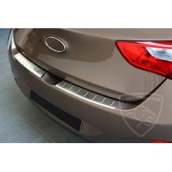 Nakładka z zagięciem na zderzak (stal szczotkowana) Hyundai i30 5dr