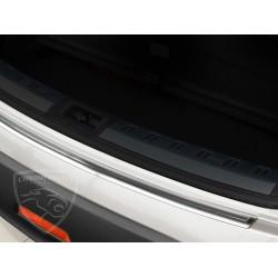 Nakładka z zagięciem na zderzak (stal szczotkowana) Nissan QASHQAI +2