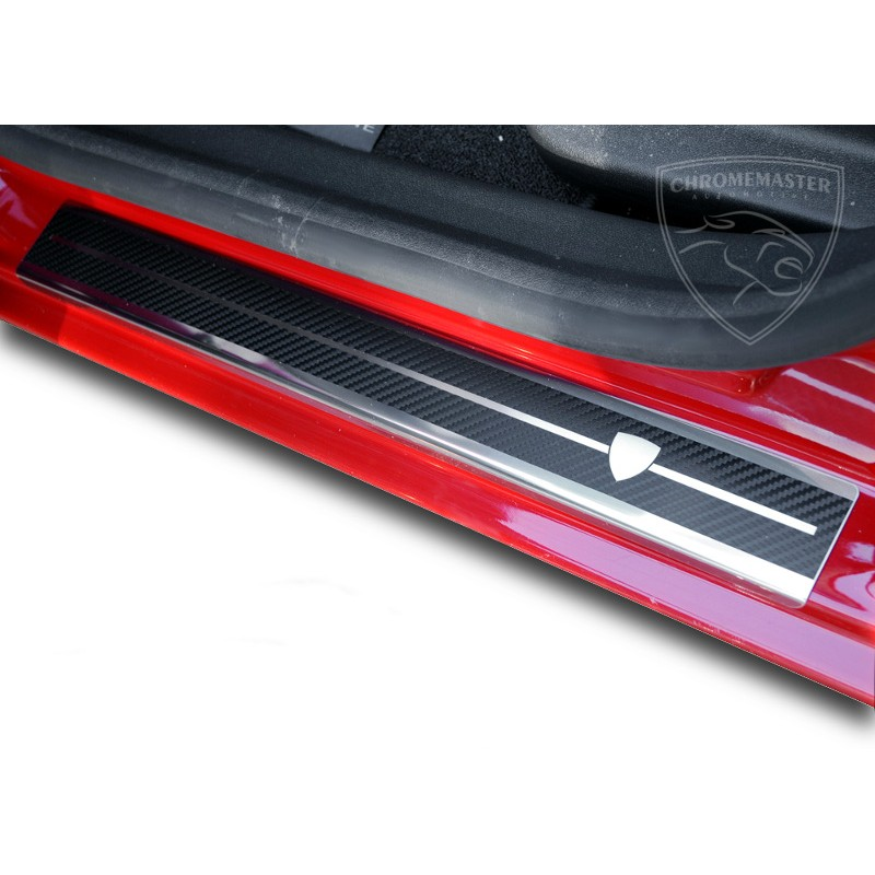 Nakładki progowe Carbon Look Fiat 500