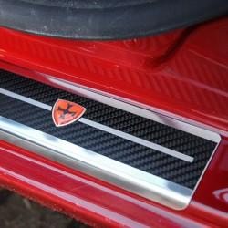 Nakładki progowe Carbon Look Nissan Rogue
