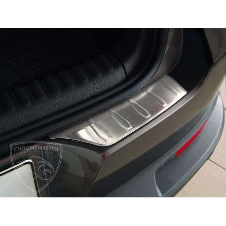Nakładka profilowana z zagięciem na zderzak (stal szczotkowana) VW TIGUAN 2szt