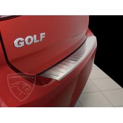 Nakładka z zagięciem na zderzak (stal szczotkowana) VW GOLF VII 5D