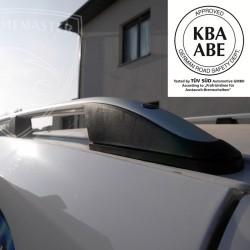 Relingi dachowe Elegance Srebrne Volkswagen Caddy III Long