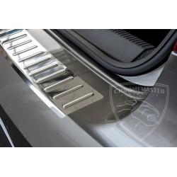 Nakładka z zagięciem na zderzak (stal szczotkowana) Volkswagen Passat B8 Sedan