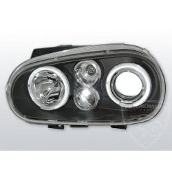 Lapmy przednie Angel Eyes Black Volkswagen Golf 4