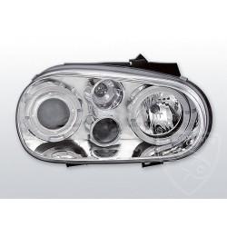 Lampy przednie Angel Eyeys Chrome Volkswagen Golf 4