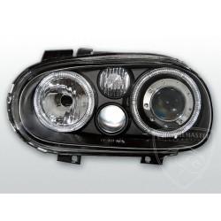 Lampy przednie Angel Eyes Black Volkswagen Golf 4