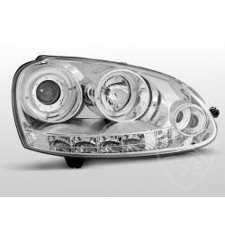 Lampy przednie Angel Eyes Chrome Volkswagen Golf 5