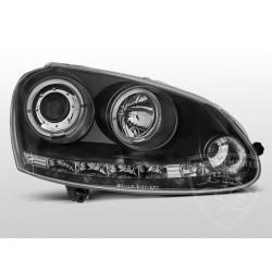 Lampy przednie Angel Eyes Black Volkswagen Golf 5