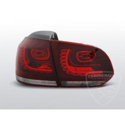 Lampy tylne Red White Led Volkswagen Golf 6