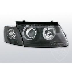 Lampy przednie Angel Eyes Black Volkswagen Passat B5