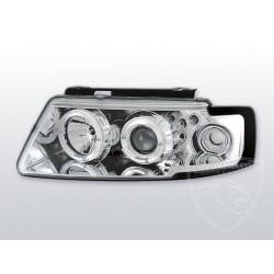 Lampy przednie Angel Eyes Chrome Volkswagen Passat B5