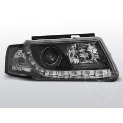 Lampy przednie TRU DRL Black Volkswagen Passat B5