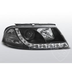 Lampy przednie TRU DRL Black Volkswagen Passat B5 FL
