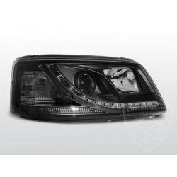 Lampy przednie TRU DRL Black Volkswagen T5