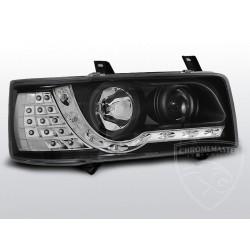 Lampy przednie Daylight Black Led Indicator Volkswagen T4