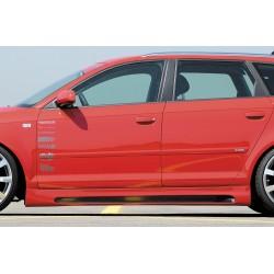 Dokładki progów Carbon Look Audi A3 8P 5DR