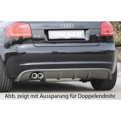 Tylny dyfuzor Carbon Look Audi A3 8P 3DR 2008+