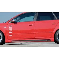 Dokładki progów żłobione Carbon Look Audi A4 B7