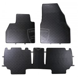 Dywaniki gumowe Czarne Geyer Renault Kangoo 3 elementy