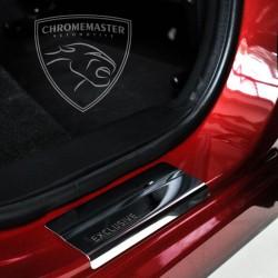 Nakładki progowe Chrome + grawer Seat Leon 3