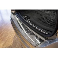 Nakładka z zagięciem na zderzak (stal szczotkowana) Volvo XC60 FL