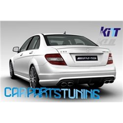 Rear bumper Mercedes C Class W204 (07-11) amg design