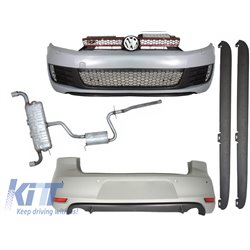 Complete Body Kit + Exhaust System VW GOLF VI MKVI Golf 6 GTI Look (2008-up)
