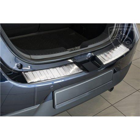 Nakładka z zagięciem na zderzak (stal szczotkowana) Mazda 3 Hatchback
