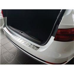 Nakładka z zagięciem na zderzak (stal szczotkowana) Audi A4 B9 Avant
