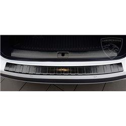 Nakładka z zagięciem na zderzak (stal szczotkowana) Audi A4 B8 FL Avant