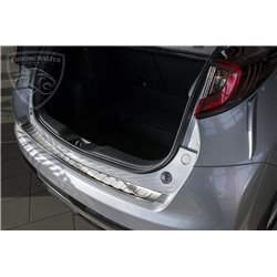 Nakładka z zagięciem na zderzak (stal szczotkowana) Honda Civic IX FL Hatchback 2015+
