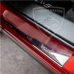 Nakładki progowe Chrome + grawer Opel Corsa D