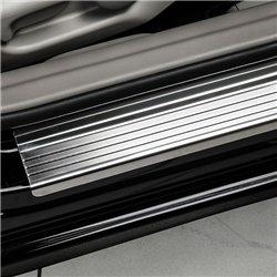 Nakładki progowe (stal + poliuretan) Peugeot 4007
