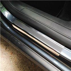 Nakładki progowe (stal + folia karbonowa) Nissan Micra K13