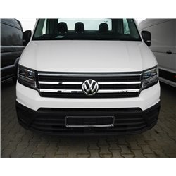 Polished Stainless Front Upper Grille Trim Volkswagen Crafter 2017-
