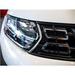 Polished Stainless Front Upper Grille Trim Dacia Duster 2018-
