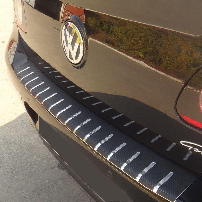 Nakładka z zagięciem na zderzak (stal + folia karbonowa) Audi A4