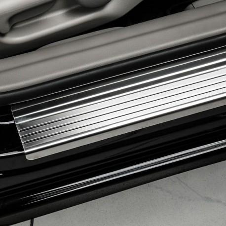 Nakładki progowe (stal + poliuretan) Fiat 500